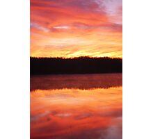 Sunrise down Thatch Down Photographic Print