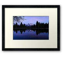 Purple Calm - Pre-Dawn View of the Tetons Framed Print