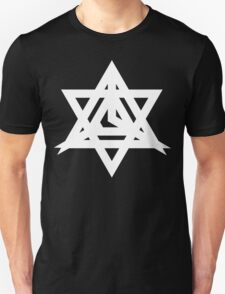 Triangle of the Shifting Brain [White Ink] T-Shirt