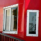 Caboose Window Reflections by Rosalie Scanlon