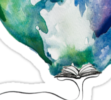 A whale and a book Sticker