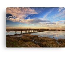 Bolsa Chica Wetlands in Wide Angled View Canvas Print