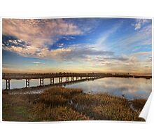 Bolsa Chica Wetlands in Wide Angled View Poster