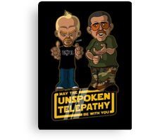 Unspoken Telepathy Canvas Print