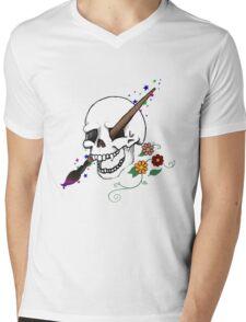 Artful Cranium Mens V-Neck T-Shirt