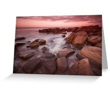 Castle Bay Dusk Greeting Card