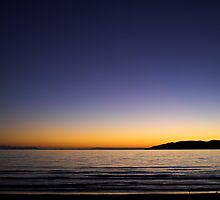 Sunset Over Kapiti Island by Robyn Carter
