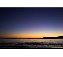 Sunset Over Kapiti Island Photographic Print