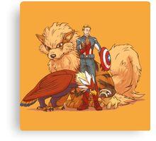 captain america pokemon Canvas Print