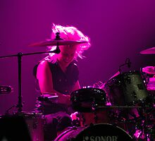 Samantha Maloney drumming for Peaches by blackarts