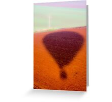 silhouette of an inflated Hot air balloon. Photographed in israel Greeting Card