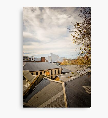 Rooftop Living Canvas Print