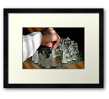 Taking Your Chance Framed Print