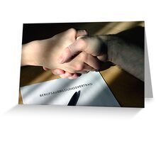 Handshake 4 Future Greeting Card