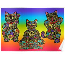 Maneki Lucky Black Cat Collection Poster