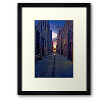 Twilight Alley Framed Print