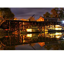 Echuca at night Photographic Print