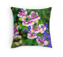 flowering garden. Red, white and pink blooming flowers Throw Pillow