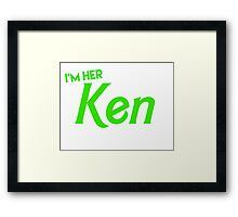 Ken and Barbie Matching Couple Shirt Framed Print