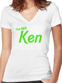 Ken and Barbie Matching Couple Shirt Women's Fitted V-Neck T-Shirt