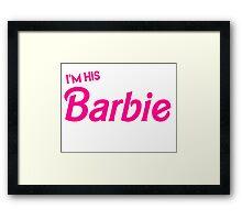 Barbie and Ken Matching Couple Shirt Framed Print