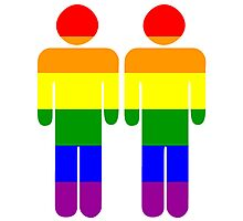 Two Gay Men Photographic Print