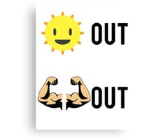 Suns Out Guns Out Canvas Print