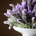 Lavender in Vase by Susan Brown