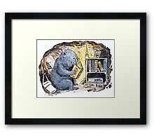Mr Wombat Reads Framed Print