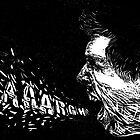 Aaargh! Self Portrait - Linocut by Daniel Goodman