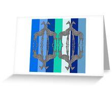 Giraffe Mirror Greeting Card