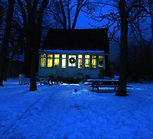 Wyandot Winter Evening, Toronto Island by Baye Hunter