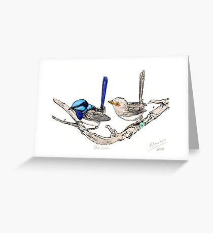 The blue wrens Greeting Card