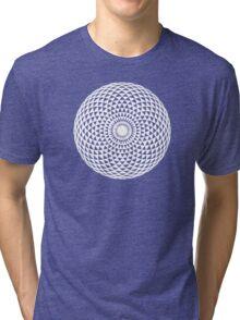 White Geometric eye  Tri-blend T-Shirt