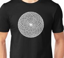White Geometric eye  Unisex T-Shirt