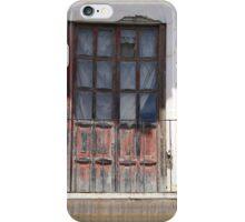Weathered Red Door on Balcony iPhone Case/Skin