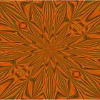 Autumnal Leaves Red Green and Amber Abstract Kaleidescope by taiche