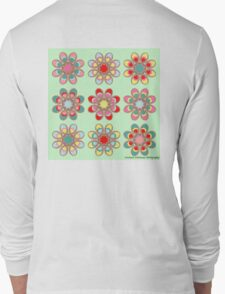 Holiday Cheer Foot Flowers Long Sleeve T-Shirt
