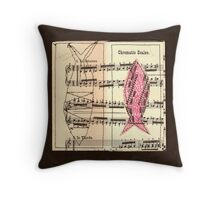 Fish in thirds Throw Pillow