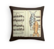 Fish above fingering Throw Pillow