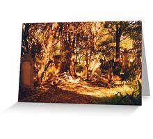 Golden Graveyard Greeting Card
