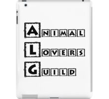 animal lovers guild iPad Case/Skin