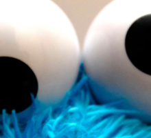 cookie eye fun Sticker