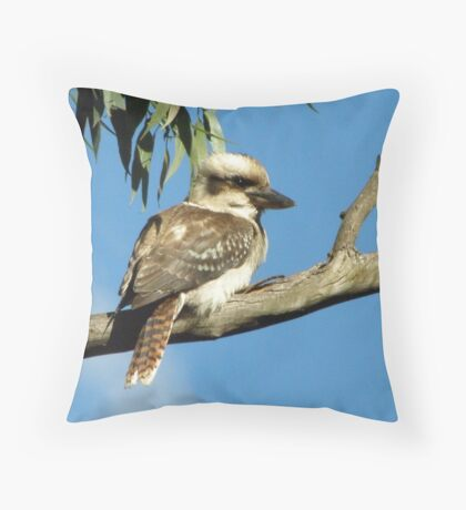 Kookaburra Sits In The Old Gumtree. Throw Pillow