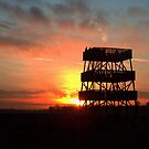 Watchtower in Sunset by ienemien