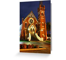 Echuca at night 2 Greeting Card