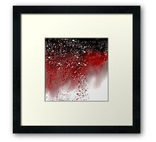 Abstract Art in Red, Black, and White Framed Print