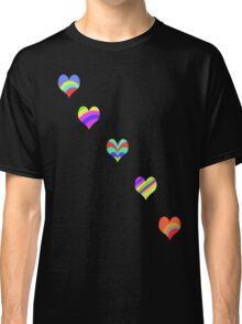 Rainbow Hearts T-Shirt Classic T-Shirt