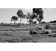 Rusting Holden, Vineyard in McLaren Vale, South Australia Photographic Print