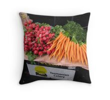 radishes and carrots Throw Pillow